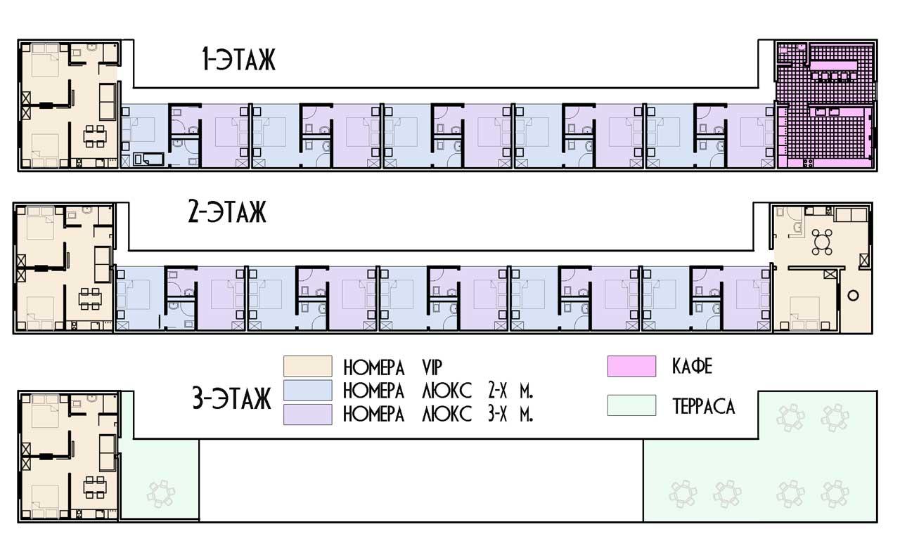 План отеля ПАЛЬМА